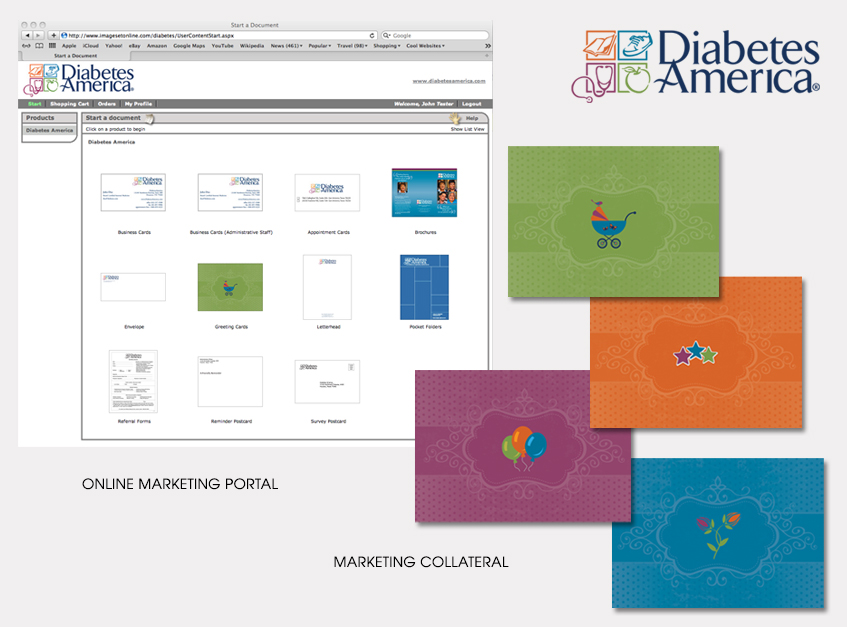 Online Marketing Portal and Marketing Collateral for Diabetes America