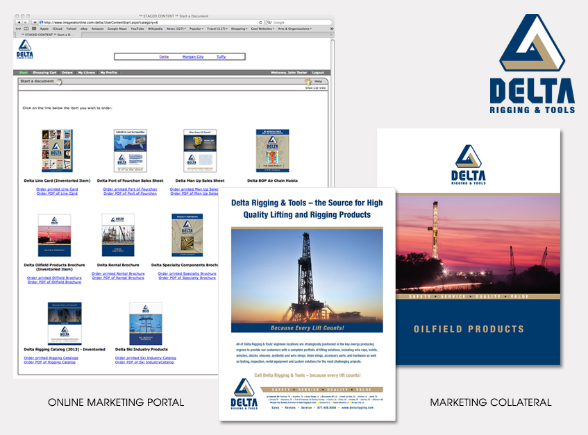 Online Marketing Portal and Marketing Collateral for Delta Rigging & Tools